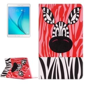 For Samsung Galaxy Tab A 9.7 / T550 Painting Zebra Pattern Horizontal Flip Leather Case with Holder
