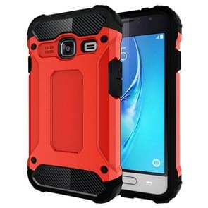 For Samsung Galaxy J1 Mini / J105 Tough Armor TPU + PC Combination Case(Red)