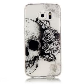 For Samsung Galaxy S6 Edge / G925 Skull Pattern IMD Workmanship Soft TPU Protective Case