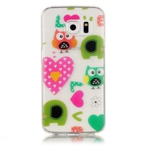 For Samsung Galaxy S6 Edge / G925 Love Owls Pattern IMD Workmanship Soft TPU Protective Case