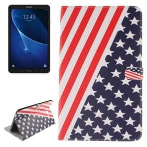 For Samsung Galaxy Tab A 10.1 / T580 US Flag Pattern Horizontal Flip Leather Case with Holder & Card Slots & Wallet