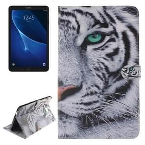 For Samsung Galaxy Tab A 10.1 / T580 Double Side Tiger Pattern Horizontal Flip Leather Case with Holder & Card Slots & Wallet