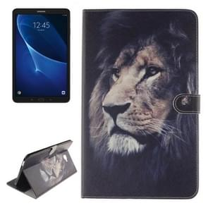For Samsung Galaxy Tab A 10.1 / T580 Double Side Lion Pattern Horizontal Flip Leather Case with Holder & Card Slots & Wallet