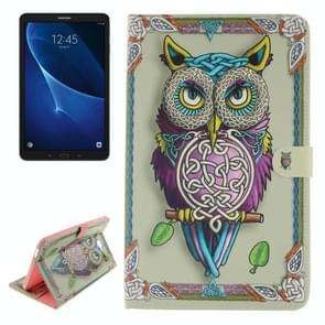 For Samsung Galaxy Tab A 10.1 / T580 Double Side Owl Pattern Horizontal Flip Leather Case with Holder & Card Slots & Wallet
