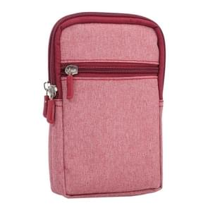 Universal Jeans Leisure Style Leather Case / Waist Bag for Samsung Galaxy Note 8 & S7 Edge / iPhone X & 7 & 7 Plus & 6 Plus & 6s Plus / Huawei Mate 8, Size:18.0 x 11.0 x 2.5cm(Pink)