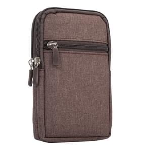 Universal Jeans Leisure Style Leather Case / Waist Bag for Samsung Galaxy Note 8 & S7 Edge / iPhone X & 7 & 7 Plus & 6 Plus & 6s Plus / Huawei Mate 8, Size:18.0 x 11.0 x 2.5cm(Brown)