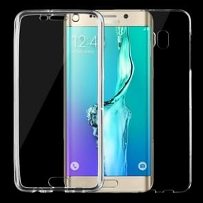 For Samsung Galaxy S6 Edge+ / G928 0.75mm Double-sided Ultra-thin Transparent TPU Protective Case (Transparent)