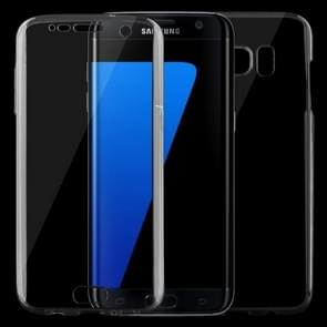 For Samsung Galaxy S7 Edge / G935 0.75mm Double-sided Ultra-thin Transparent TPU Protective Case (Black)