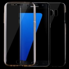 For Samsung Galaxy S7 Edge / G935 0.75mm Double-sided Ultra-thin Transparent TPU Protective Case (Gold)