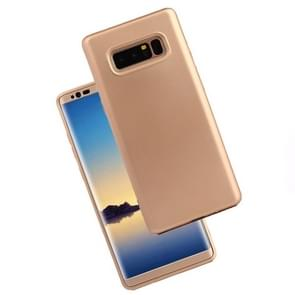 For Samsung Galaxy Note 8 PU + PC 360 Degree Full Coverage Combination Protective Back Cover Case (Gold)