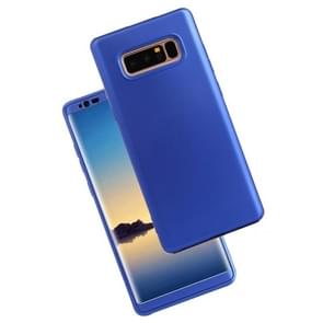For Samsung Galaxy Note 8 PU + PC 360 Degree Full Coverage Combination Protective Back Cover Case (Blue)