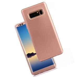 For Samsung Galaxy Note 8 PU + PC 360 Degree Full Coverage Combination Protective Back Cover Case (Rose Gold)
