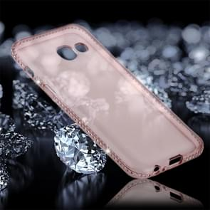 For Samsung Galaxy A5 (2017) Diamond Encrusted Transparent Soft TPU Protective Back Cover Case (Pink)