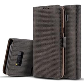 For Samsung Galaxy S8 + / G9550 Retro Style Mesh Breathable Horizontal Flip Leather Case with Card Slot & Holder & Wallet(Black)
