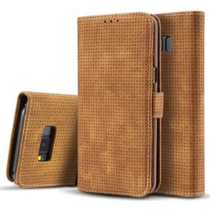 For Samsung Galaxy S8 + / G9550 Retro Style Mesh Breathable Horizontal Flip Leather Case with Card Slot & Holder & Wallet(Brown)