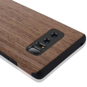 For Samsung Galaxy Note 8 Black Rose Wood Texture PU Shockproof Protective Back Cover Case