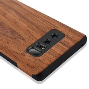 For Samsung Galaxy Note 8 Rosewood Texture PU Shockproof Protective Back Cover Case