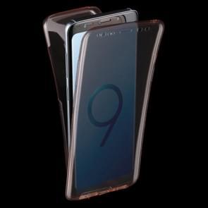 Voor Samsung Galaxy S9 0.75mm Double-sided ultra-dun Transparant TPU beschermings hoesje(roze)