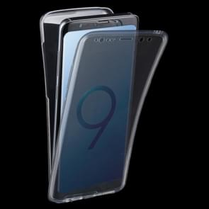Voor Samsung Galaxy S9 0.75mm Double-sided ultra-dun Transparant TPU beschermings hoesjewit