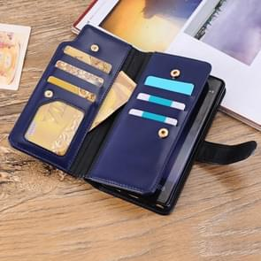 For Samsung Galaxy Note 8 PU Leather 3-layer 2 in 1 Horizontal Flip Protective Case with Card Slots & Wallet (Blue)