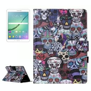 For Samsung Galaxy Tab S2 9.7 / T815 Ghost Head Pattern Horizontal Flip Leather Case with Holder & Card Slots & Wallet