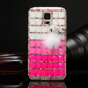 Fevelove for Samsung Galaxy S5 / G900 Diamond Encrusted Jewel Fox Pattern PC Protective Case Back Cover