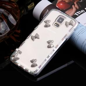 Fevelove for Samsung Galaxy S5 / G900 Diamond Encrusted Bowknots Pattern PC Protective Case Back Cover