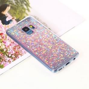 Voor Samsung Galaxy S9 Glitter Powder Soft TPU beschermings hoesje(roze)