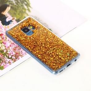 Voor Samsung Galaxy S9 Glitter Powder Soft TPU beschermings hoesje(Goud)