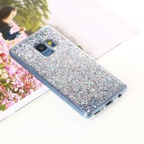 Voor Samsung Galaxy S9 Glitter Powder Soft TPU beschermings hoesje(zilver)