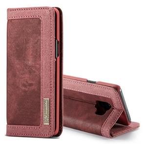 hoesjeMe voor Samsung Galaxy S9 Denim Canvas  + PC Materiaal horizontaal Flip lederen hoesje met opbergruimte voor pinpassen & houder & portemonnee & Photo Frame(rood)