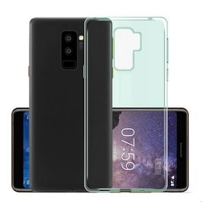 MOFI voor Samsung Galaxy S9+ TPU Transparant beschermings Back Cover hoesje(blauw)