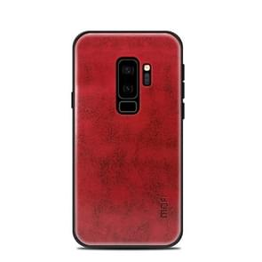 MOFI voor Samsung Galaxy S9+ PC+TPU+PU lederen beschermings Back Cover hoesje(rood)