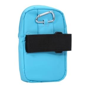 Universal Double Layer Zipper Multi-functional Leisure Style Sports Arm Bag for iPhone 7 & 6 & 6s / Samsung Galaxy S7 & S6 & S6 Edge,Size:15.0 x 9.5 x 2.0cm(Blue)