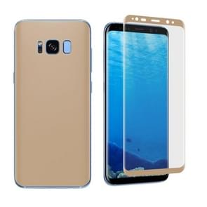 For Samsung Galaxy S8 Angibabe 0.1mm PET Curved Electroplate Front + Back Soft Full Screen Protector Film (Gold)