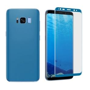 For Samsung Galaxy S8 Angibabe 0.1mm PET Curved Electroplate Front + Back Soft Full Screen Protector Film (Blue)