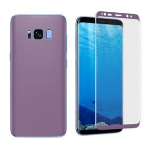 For Samsung Galaxy S8 Angibabe 0.1mm PET Curved Electroplate Front + Back Soft Full Screen Protector Film (Purple)