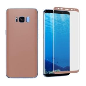 For Samsung Galaxy S8 Angibabe 0.1mm PET Curved Electroplate Front + Back Soft Full Screen Protector Film (Rose Gold)
