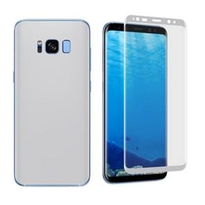 For Samsung Galaxy S8 Angibabe 0.1mm PET Curved Electroplate Front + Back Soft Full Screen Protector Film (Silver)