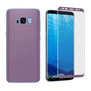 For Samsung Galaxy S8 + / G9550 Angibabe 0.1mm PET Curved Electroplate Front + Back Soft Full Screen Protector Film (Purple)