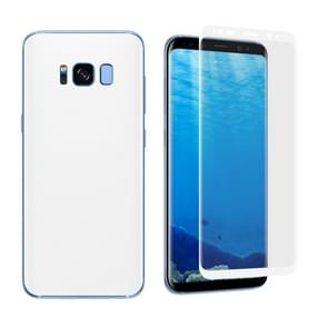 For Samsung Galaxy S8 + / G9550 Angibabe 0.1mm PET Curved Electroplate Front + Back Soft Full Screen Protector Film (White)