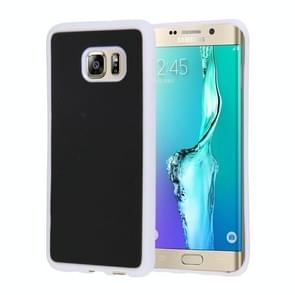 For Samsung Galaxy S6 Edge+ / G928 Anti-Gravity Magical Nano-suction Technology Hybrid Sticky Selfie Protective Case(White)