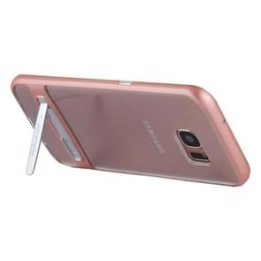MERCURY GOOSPERY for Samsung Galaxy S7 Edge Detachable Electroplating Bumper Frame + TPU Shockproof Protective Back Cover Case with Holder (Rose Gold)