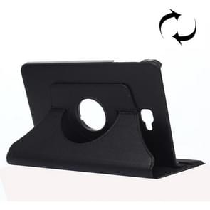 For Samsung Galaxy Tab A 10.1 / T580 Litchi Texture 360 Degree Rotating Horizontal Flip Leather Case with Holder(Black)
