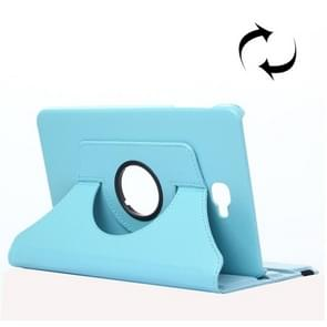 For Samsung Galaxy Tab A 10.1 / T580 Litchi Texture 360 Degree Rotating Horizontal Flip Leather Case with Holder(Baby Blue)