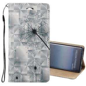 For Samsung Galaxy Note 8 3D Relief Dandelion Pattern Magnetic Adsorption Horizontal Flip Leather Case with Holder & Card Slots & Lanyard