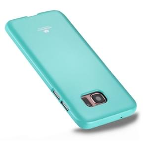 MERCURY GOOSPERY JELLY CASE for Samsung Galaxy S7 Edge TPU Glitter Powder Drop-proof Protective Back Cover Case(Mint Green)