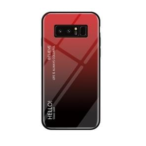 Gradient Color Glass Case for Galaxy Note 8 (Red)