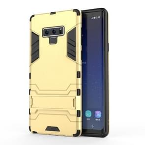 PC + TPU Shockproof Protective Case with Holder For Galaxy Note9(Yellow)