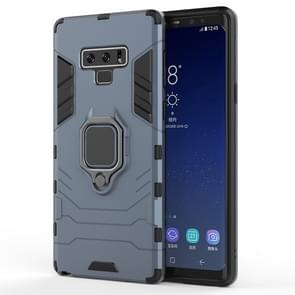 PC + TPU Shockproof Protective Case with Magnetic Ring Holder For Galaxy Note9(Navy Blue)
